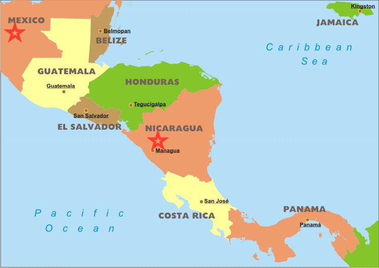 central-america-political-map
