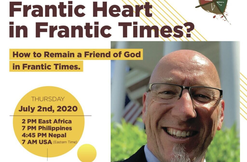 Frantic Heart in Frantic Times? Register for the Zoom event…